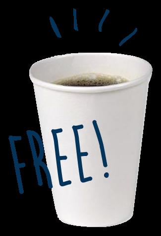 コーヒーテイクアウト無料