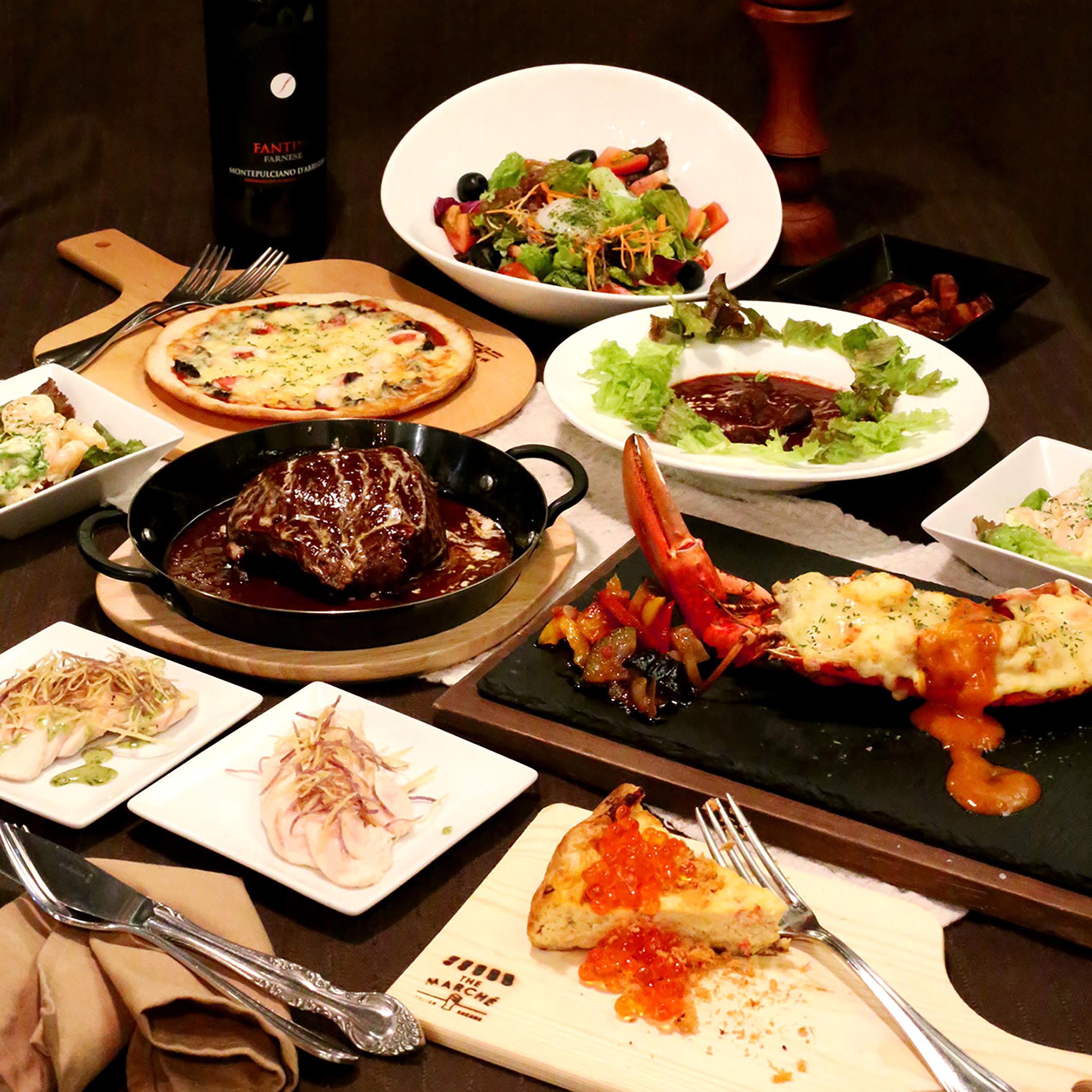 デカ肉&でら海鮮大祭りイタリアンコース